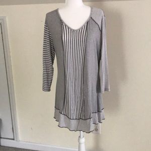 Grey Striped Tunic